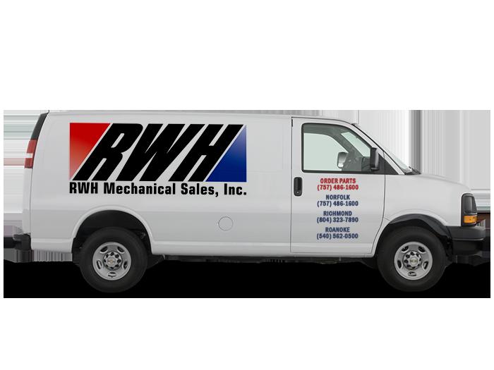 R W Hayes service van